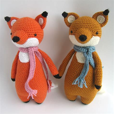 amigurumi fox fox with scarf amigurumi pattern amigurumipatterns