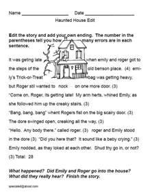 teach students enjoy writing halloween kids house