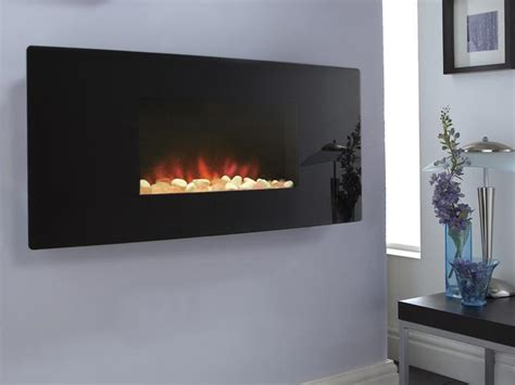 celsi fires accent black curved hang on the wall electric