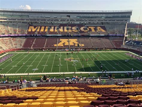 bank sections tcf bank stadium football seat views and fan photos