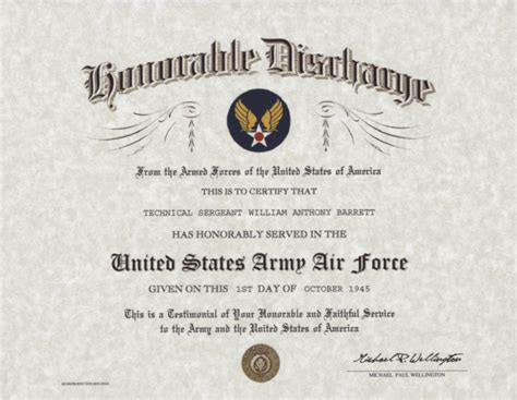 honorable discharge certificate template replacement certificates pictures to pin on