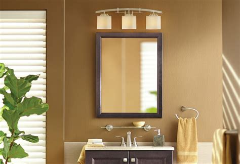 how to hang a bathroom mirror with a frame hanging a bath mirror at the home depot