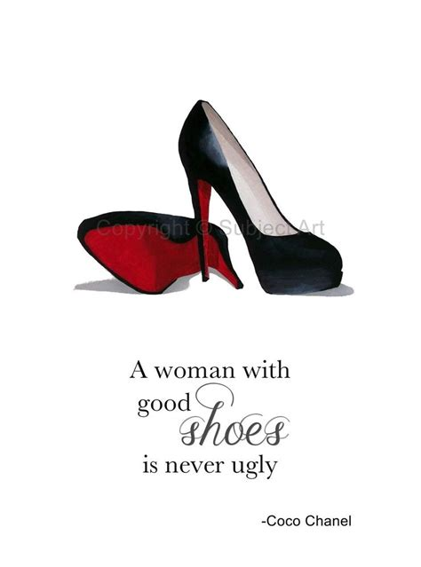 Coco Chanel To Christian christian louboutin black shoes print coco chanel