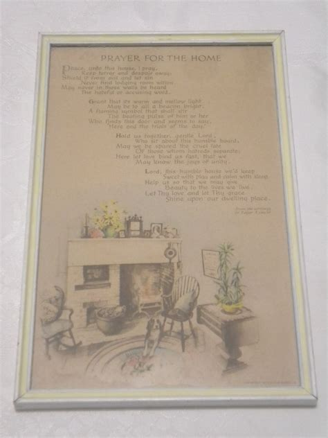 vintage prayer vintage buzza prayer for the home by edgar a guest circa