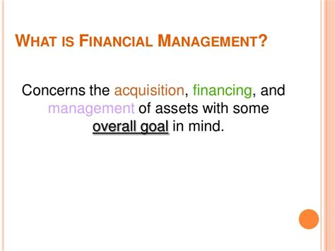 What Is Mba In Finance Management by Financial Managemet Mba Lect 1