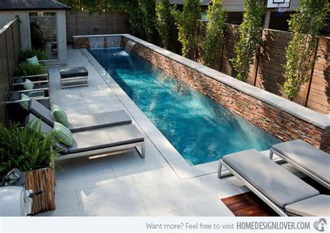 Pools For Small Backyards by 15 Great Small Swimming Pools Ideas Home Design Lover