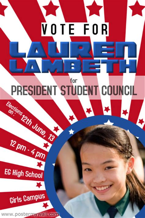 election posters templates school election caign flyer template postermywall