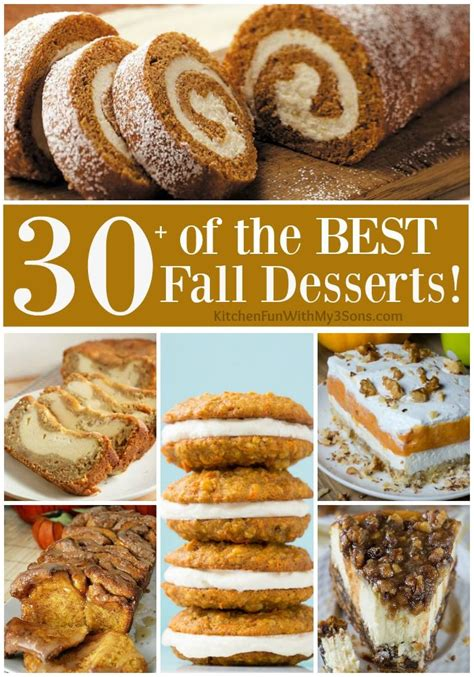 over 30 of the best fall dessert recipes including cake