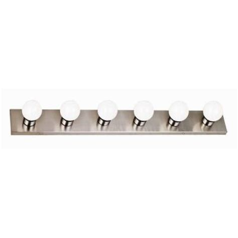 design house 6 light satin nickel vanity light 519314