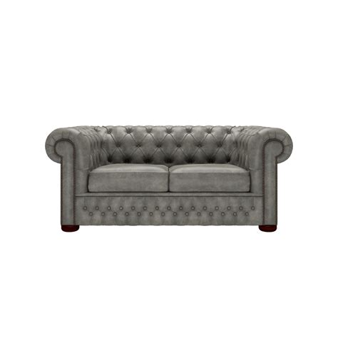 Chesterfield 2 Seater Sofa Chesterfield 2 Seater Sofa In Etna Grey From Sofas By Saxon Uk