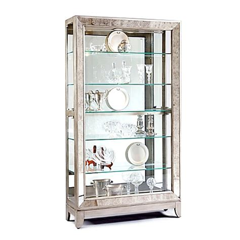 Curio Cabinet Bed Bath And Beyond Pulaski Side Entry Curio In Platinum Bed Bath Amp Beyond
