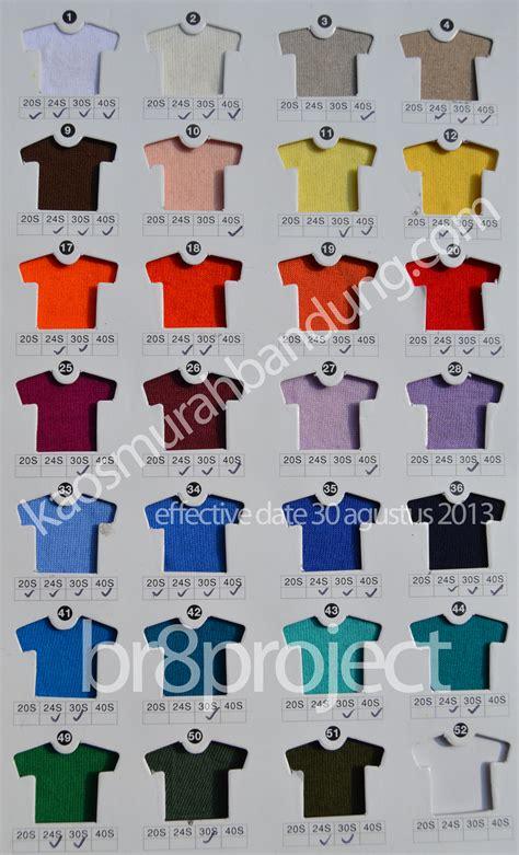Kaos Polos Combed 30s Hitam Ukuran M Medium katalog warna kaos cm 40s 30s 24s 20s