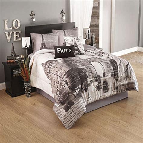paris bedding full paris postcard 4 piece comforter set full idea nuova