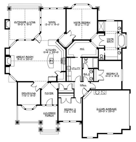 ranch home plan with safe room 73296hs architectural 17 best images about house plans on pinterest european