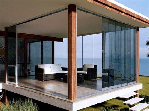 verande mobili per balconi chiusure per esterni in vetro e pvc vetrate scorrevoli e