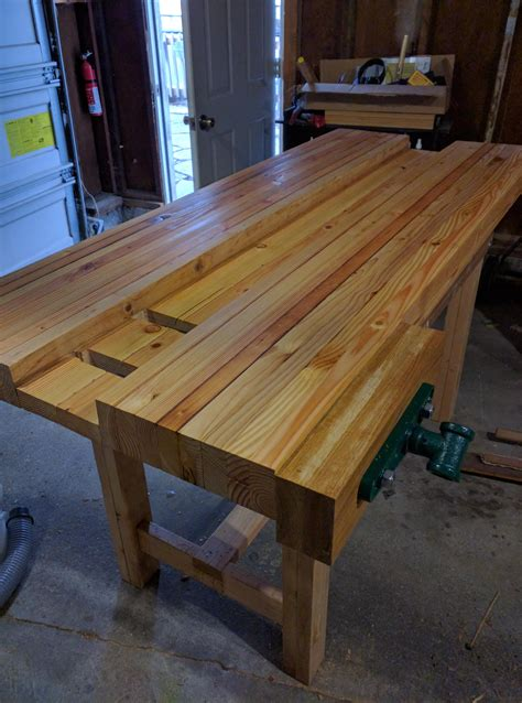 how to build a long bench work bench build woodworking