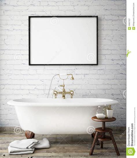 Badezimmer Poster by Mock Up Poster Frame In Interior Background