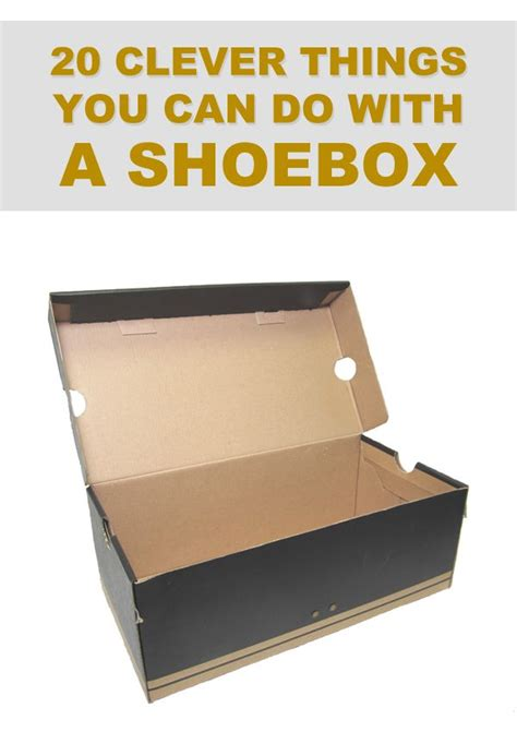 Crafts You Can Do With Paper - 20 clever things you can do with a shoebox shoebox