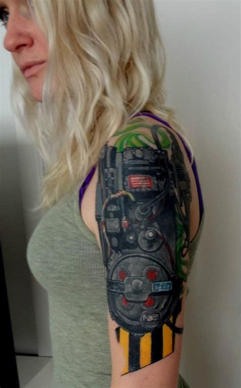 proton tattoo my ghostbusters proton pack me