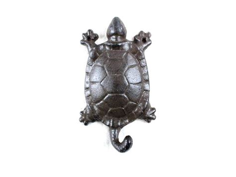 cast iron home decor buy cast iron turtle key hook 6 inch nautical decor