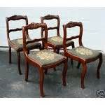 4 1940 s back duncan phyfe leg dining room chairs 05