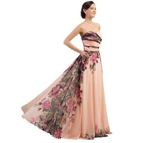 Evening dresses flower christmas party gowns prom graduation dress