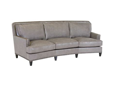 curved leather sectional classic leather palermo curved sofa set clpalercr