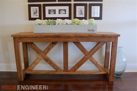 console table plans diy x brace console table free plans rogue engineer