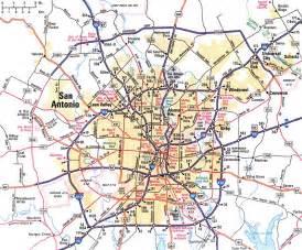map of san antonio and surrounding cities san antonio map