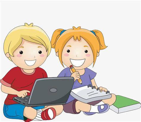 imagenes de niños jugando y aprendiendo los ni 241 os aprendiendo juntos dibujo a mano de dibujos