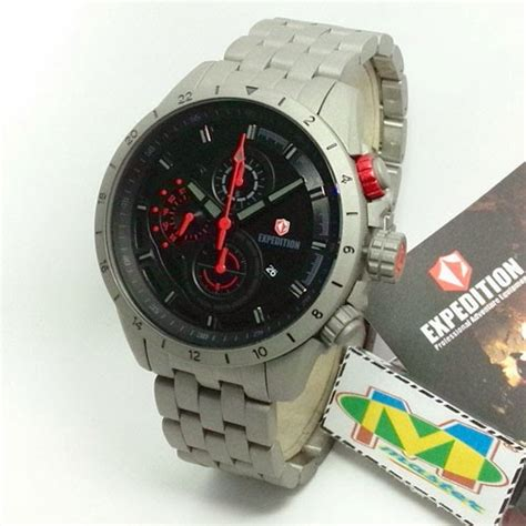 Jam Tangan Pria Merk Expedition Original Type 6618 Batera 2 jam tangan expedition e6366 titanium