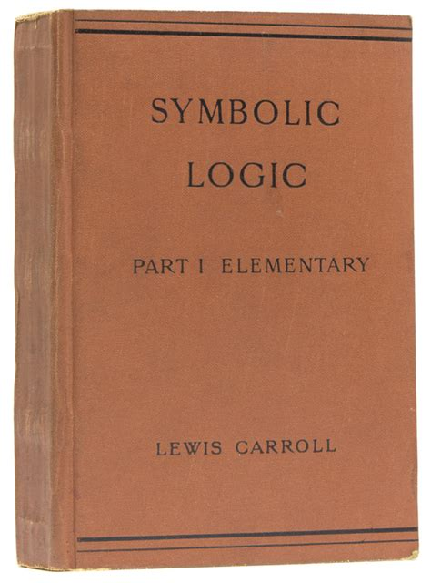 symbolic logic books symbolic logic part i elementary charles l dodgson