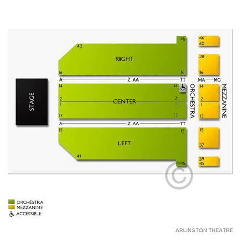 arlington theater seating chart arlington theatre seating chart seats