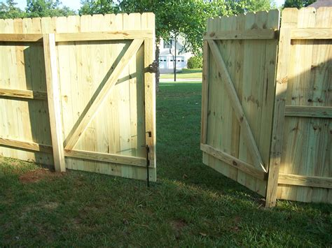 Wood Fence Door by Wood Fences