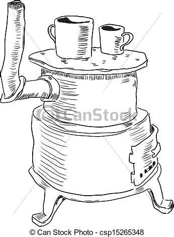 cartoon kachel eps vector van kachels ijzer een oud ijzer kachels