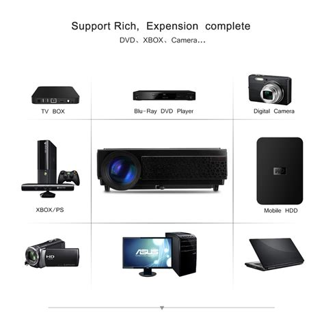 Home Theater Multimedia hd 1080p home theater multimedia led 3d projector 2500 lumens usb hdmi vga