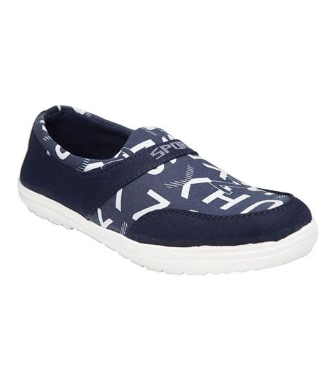 shoe republic blue fabric slip on trendy casual shoes