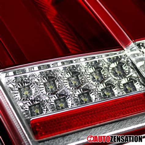 99 04 mustang sequential tail light kit 99 04 ford mustang red lens sequential signal led tail