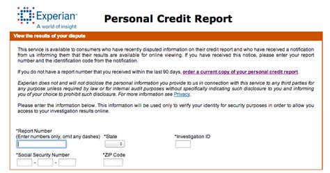 i disputed my experian credit report and the experience wasn t so horrible sort of point