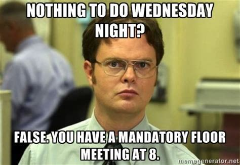 Office Meeting Meme - 17 best images about resident assistant dorm life on
