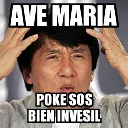 Ave Maria Meme - meme jackie chan ave maria poke sos bien invesil 15526624