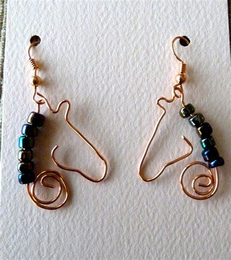 how to make copper jewelry from wire copper wire jewelry make earrings with wire and