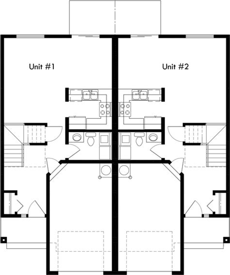 Duplex Floor Plans 2 Bedroom by Mirrored Duplex House Plans 2 Story Duplex House Plans