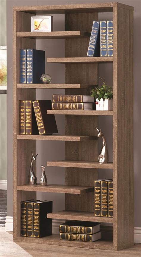 unique display shelves rustic wood cool retail bookcase floating shelves store