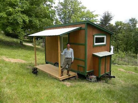 112 Square Feet Off Grid Tiny House With Folding Porch Roof | 112 square feet off grid tiny house with folding porch