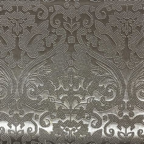 printable textile vinyl lyon embossed damask pattern vinyl upholstery fabric by