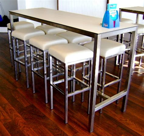bar bench table stainless highbar compact top base024 bench bar