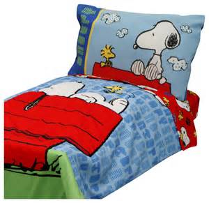 Home Design Comforter 4pc snoopy toddler bedding set peanuts comforter and
