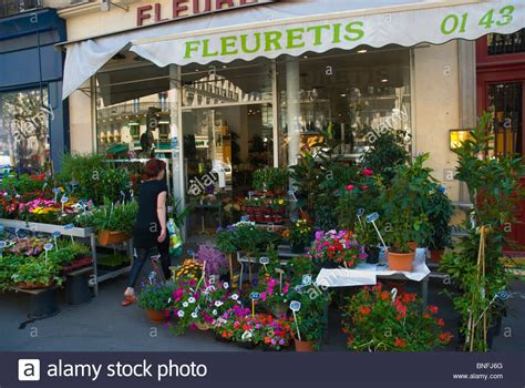 flower shop in paris paris france they display all flower shop latin quarter paris france europe stock photo