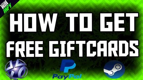 How To Get Paypal Gift Cards Free - how to get free paypal money and gift cards 2016 ios android international youtube